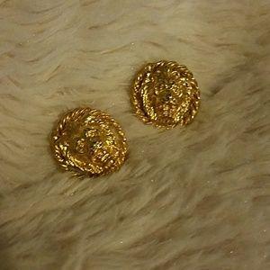 🦁Anne Klein Lion Logo Earrings 🦁